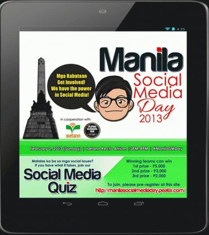 Events: Manila Social Media Day 2013 – Be a Responsible Netizen, Get Involved!