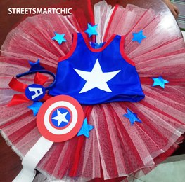 Captain America Costume for Girls